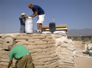 back on the single bag dome, with jim and ryan from tecopa, helping chip
